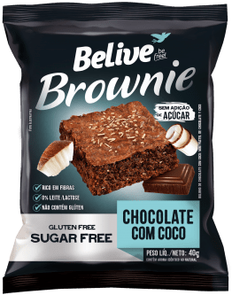 BROWNIE BELIVE 40G CHOCO COCO