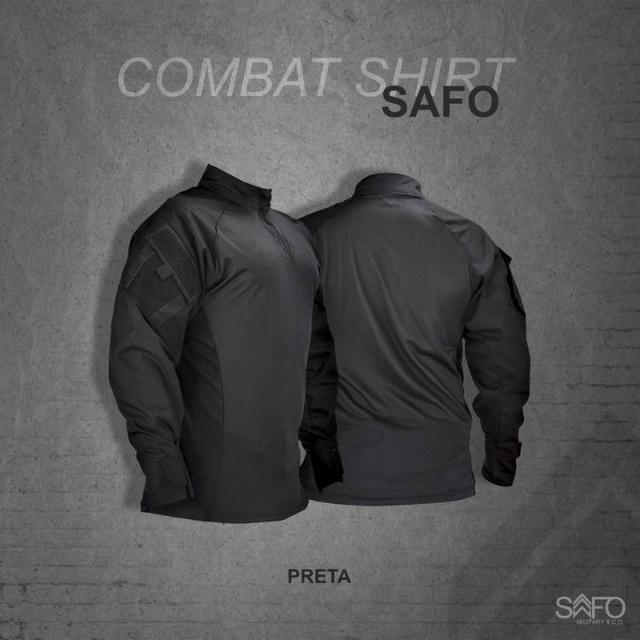 COMBAT SHIRT - BLACK SAFO