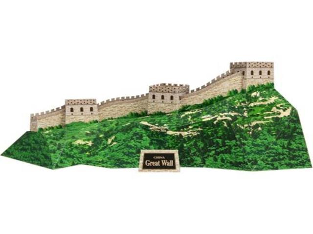 A Grande Muralha da China, / Maquete 3D Digital Papercraft.