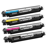 Kit Colorido 4 Cores / Toner Compatível HP 126A 130A / CP1025 CP1025NW CP1020 M175A M175NW M176N M177FW M275NW