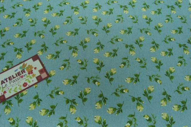 Tecido 100% algodão  - Floral Paris Azul 01- Fabricart