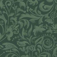 Tecido 100% algodão  - Arabescos Verde - Fabricart