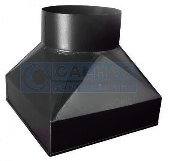 Adaptador para churrasqueira pré fabricada 30,5 x 30,5 preto