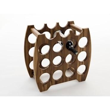 Adega fabricada em madeira de Teca para 15 garrafas