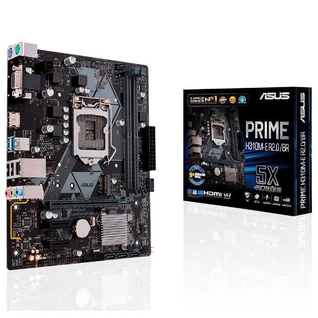 Placa Mãe Asus Prime H310M-E R2.0/BR, Intel LGA 1151, mATX, DDR4