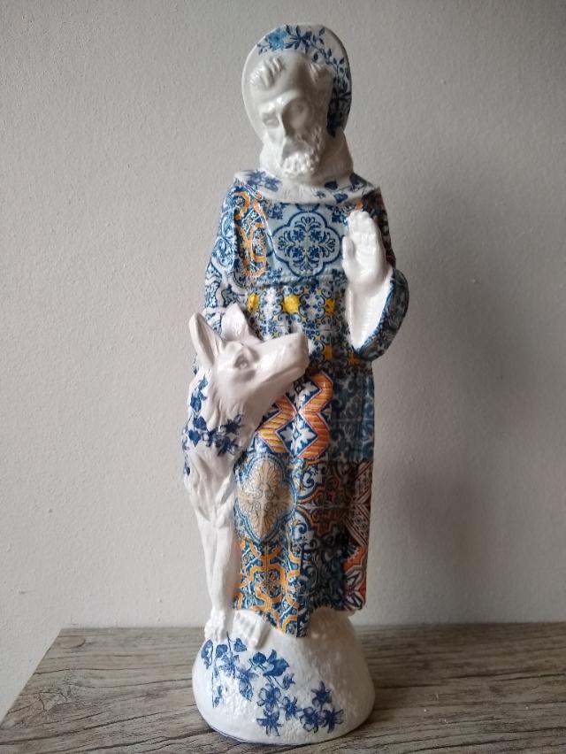 São Francisco de Assis Azulejo Português Coloridos - alt23x7