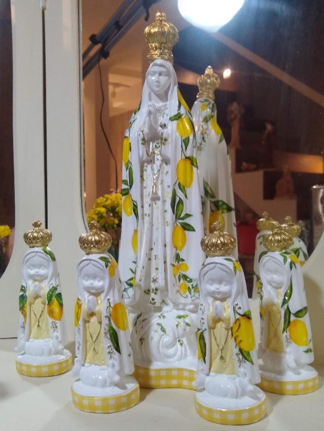 KIT12 Nossa Senhora de Fatima Baby Limão Lemon Citrus - alt14 x 5cm + NS Fatima 40cm