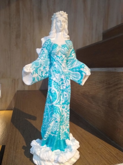 Orixa Iemanja Rainha dos Mares Azul - alt30 x 10