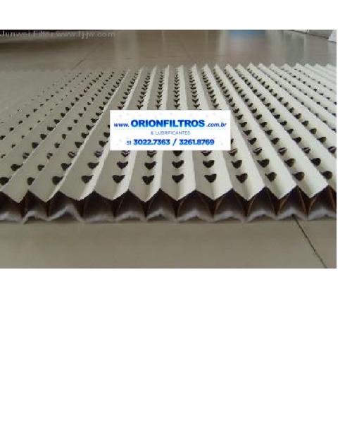 Filtro Overspray Plissado Carta de Papel para Cabine de Pintura 1.000 X 10.000M Caixa 10M2