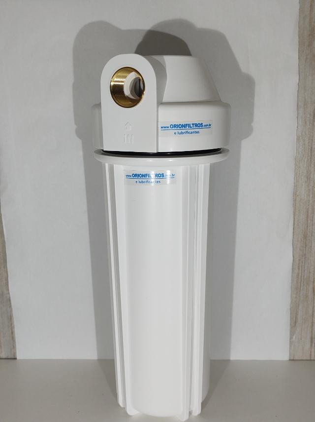 Filtro de Água Carcaça Branca 93/4 polegadas de uso Industrial Para Maquina Cafe Expresso Purifica Tira Cloro - cod.14038692