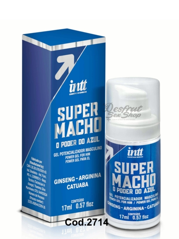 EXCITANTE MASCULINO SUPER MACHO GEL - COD 2714