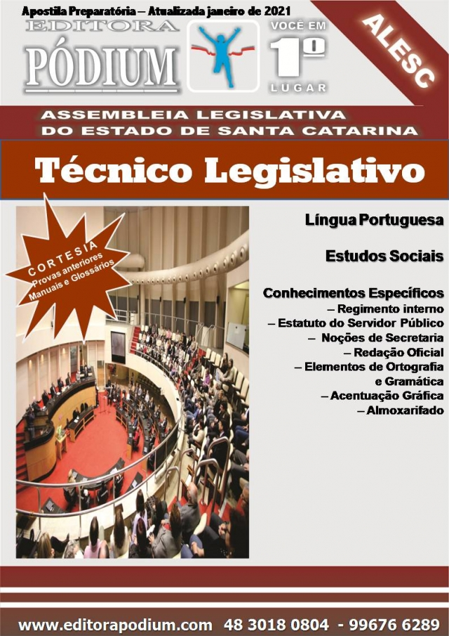 APOSTILA CONCURSO ALESC - TÉCNICO LEGISLATIVO