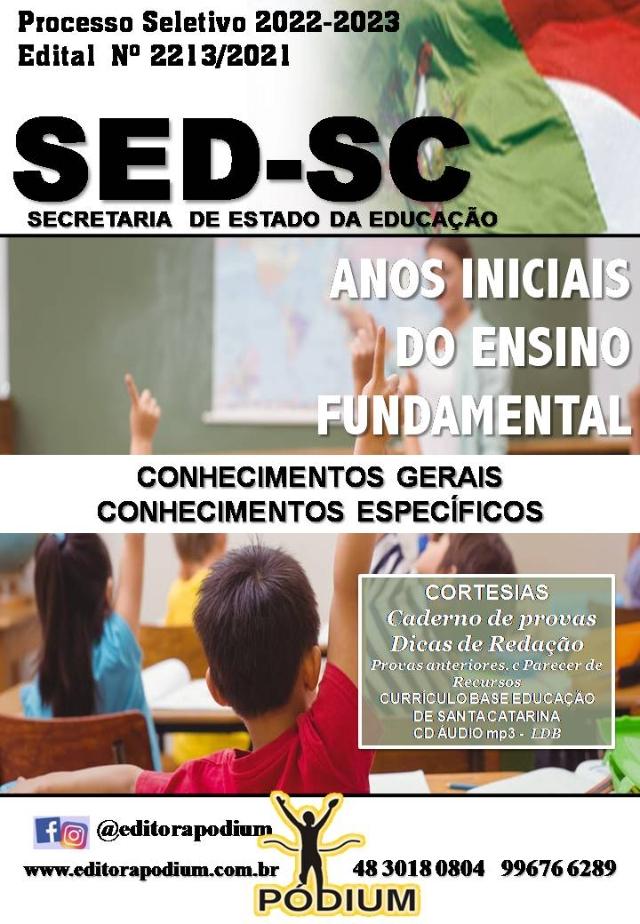 APOSTILA ANOS INICIAIS PROCESSO SELETIVO SED SC