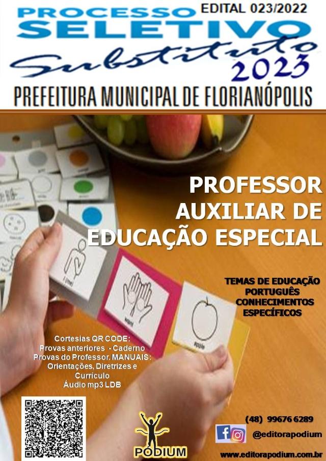 APOSTILA CARGO  PROFESSOR AUXILIAR DE EDUCAÇÃO ESPECIAL