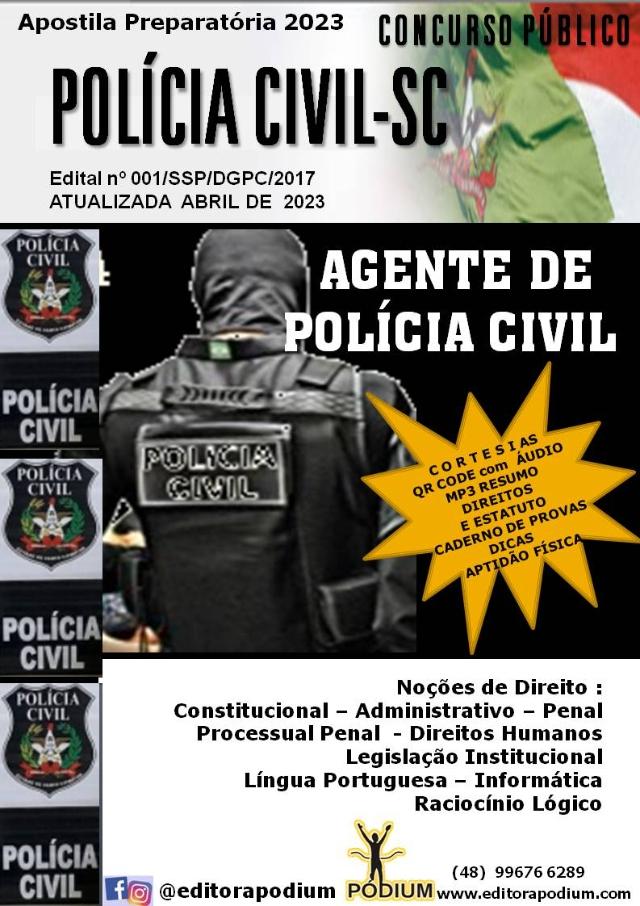APOSTILA CONCURSO AGENTE DE POLÍCIA CIVIL SC