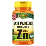 Zinco Zn - 60 Cápsulas 500 mg
