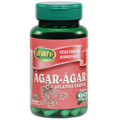 Ágar Ágar (gelatina vegetal) - 60 Cápsulas 600 mg