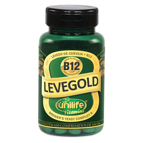Levedo de Cerveja + B12 Levegold - 450 comprimidos