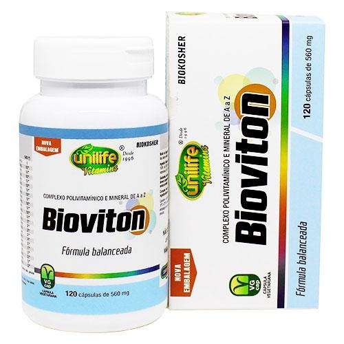Bioviton Polivitamínico e Minerais de A a Z - 120 Cápsulas 560 mg