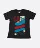 Camiseta Patins Street Preto