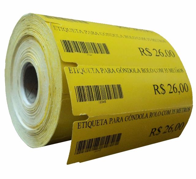 Etiqueta de Gôndola 110 x 35 mm (Impressoras Térmicas)