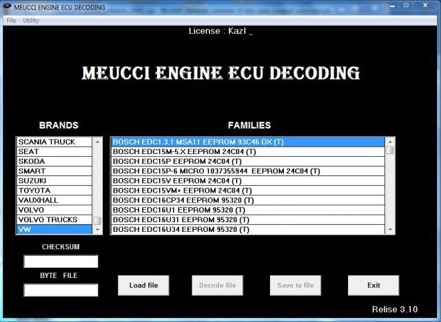 Software MEUCCI Engine ECU Decoding por R$200,00