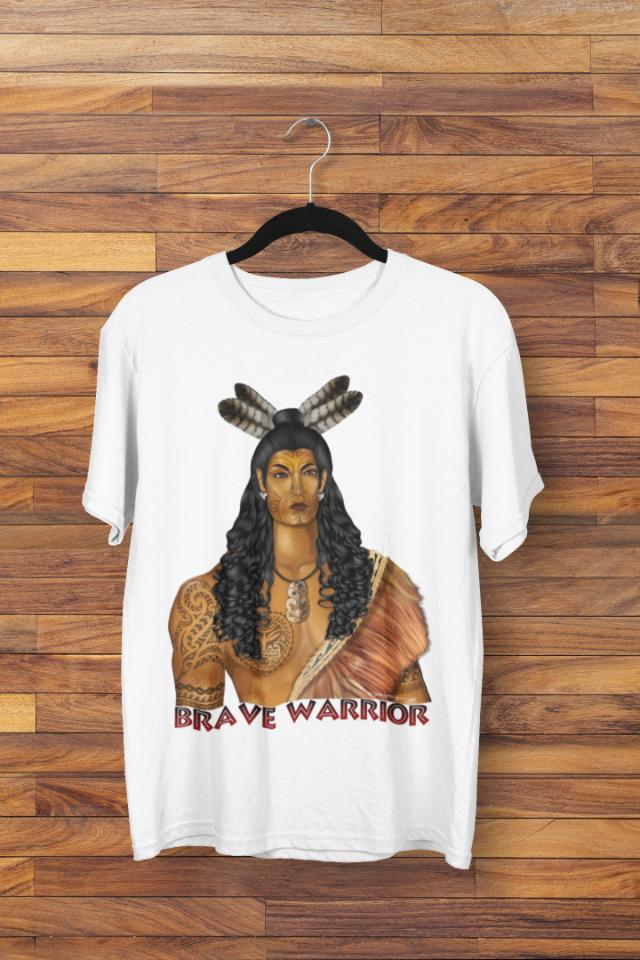 Camiseta Indígena Maori Brave Warrior (1709)