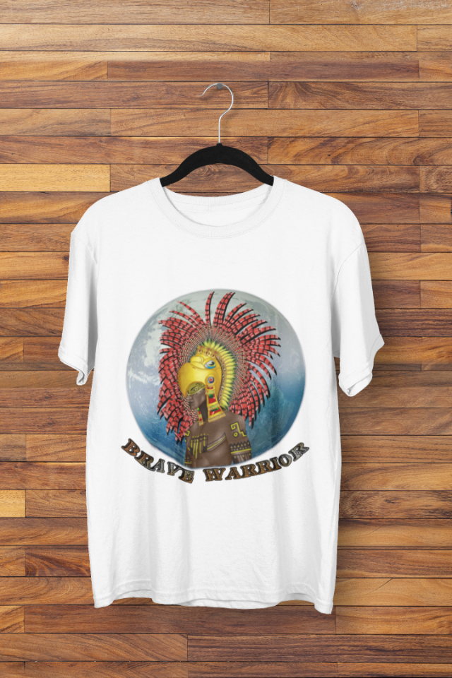 Camiseta Indígena Asteca Brave Warrior (1710)