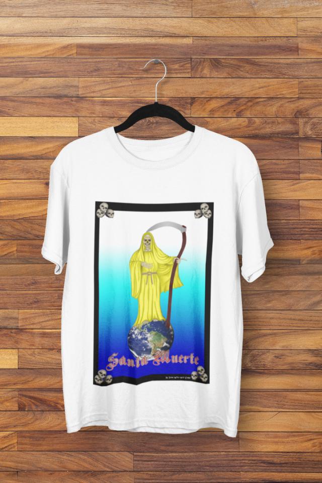 Camiseta Santa Morte Manto Amarelo  (1747)