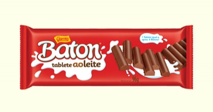 Chocolate Tablete Baton ao Leite 96g - caixa 10 un