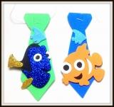 Gravata M de eva peixinhos(20unidades)