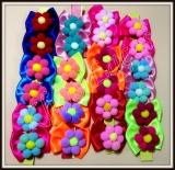 Laços grande flor de pompom(24unidades)