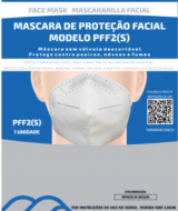 .Máscara Proteção Respiratória PFF2 Sem Válvula (auricular) Branca CA 44735 - Filtrosmil