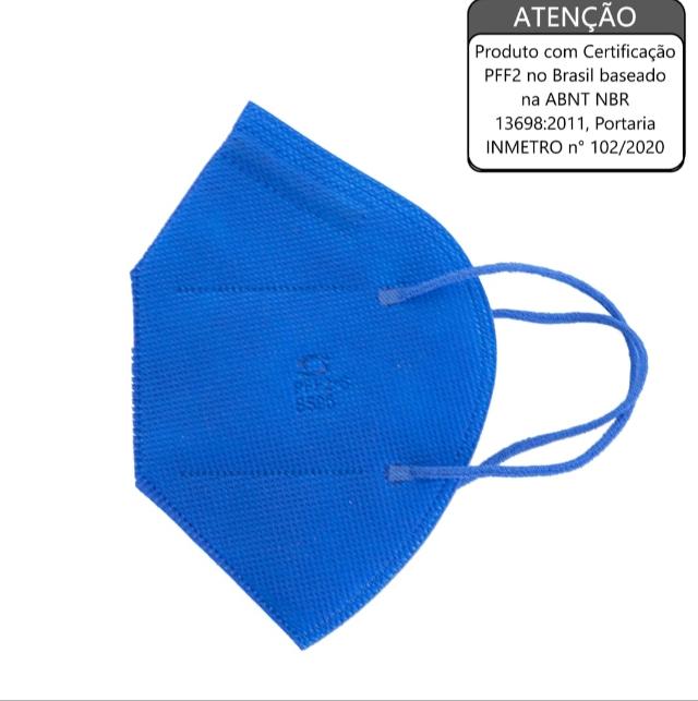 Máscara de Proteção Respiratória PFF2 S Sem Válvula Azul SuperSafety (TIPO N95)