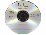 Midia Cd-r Multilaser 52x/700mb Original Unidade