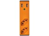 Carregador USB com Filtro de Linha Bem Ligado Enermax - Bivolt Preto e Laranja