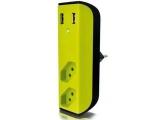 Carregador USB com Filtro de Linha Bem Ligado Enermax - Bivolt Preto e Verde
