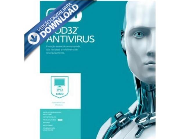 Antivirus Eset Nod32 Home 2021 Original (1pc 1 Ano - Licença via E-mail)