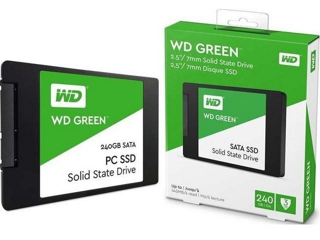 SSD WD Green 240GB SATA Leitura 545MB/s Gravação 465MB/s - WDS240G2G0A