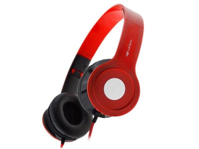 Fone de Ouvido com Microfone Dobravel PH-100RD Vermelho C3Tech
