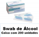 SWAB DE ÁLCOOL BIOSOMA COM 200UN