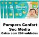 PAMPERS CONFORT SEC TAMANHO MÉDIO CAIXA COM 264 UNIDADES