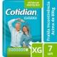 FRALDA COTIDIAN CLASSICA TAM. EXTRA GRANDE COM 7 UNIDADES