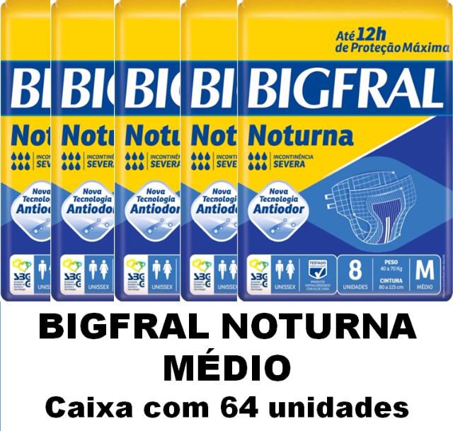 BIGFRAL NOTURNA MÉDIA CAIXA COM 64 UNIDADES
