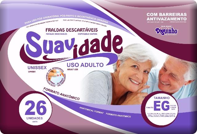 FRALDA DESCARTAVEL SUAVIDADE EG C/26 UN.