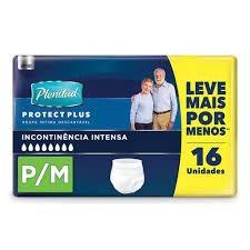 FRALDA PLENITUD PROTECT PLUS P/M COM 16 UNIDADES