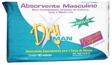 DRYMAN ABSORVENTE MASCULINO FARDO COM 32 PACOTES COM 10 UND CADA