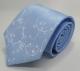 Gravata Azul Claro Desenho Floral Branco