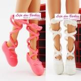 9abe0ea04e  KIT PROMOCIONAL  2 Pares De SAPATILHAS De Ballet Para Barbie (Modelo  Clássico