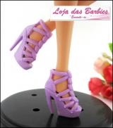 cfe39f7c60 Sapatinho De Luxo Para Barbie    Mini Corações  (Lilás)